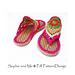 Flower Power Hippie Sandals pattern