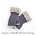 Fingerless Fur Gloves pattern