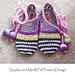 Girl's Happy Scrap Slippers pattern