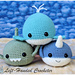 Narwhal, Shark and Whale pattern