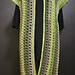 Cap-sleeved long cardigan pattern