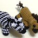 Miniature Zebra and Horse Amigurumi Plush Toy pattern