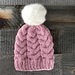 Horseshoe Cable Knit Toque pattern