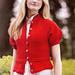 Puff-Sleeved Feminine Cardigan pattern