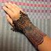 Orpine Lace cuffs pattern