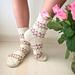 Stone Roses socks pattern