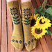 Lucky Sunflower socks pattern