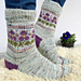 Perfect Pansy socks pattern