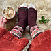 Christmas Pudding socks pattern