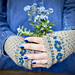 Forget me knot mitts pattern