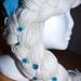 Elsa lue med krone pattern