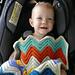 Chevron Love Car Seat Blanket pattern