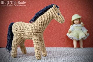 Horse crochet pattern : PlanetJune Shop, cute and realistic ... | 213x320