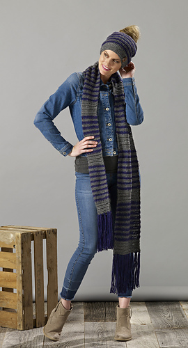 Slouchy Hat and Scarf Set made with Sugar Bush Rapture