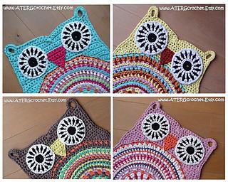 Owl Rug Pattern By Atergcrochet Greta Tulner Ravelry