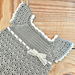 Gray & Cream Baby Girl Crochet Dress pattern