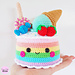 Rainbow Candy Cake pattern