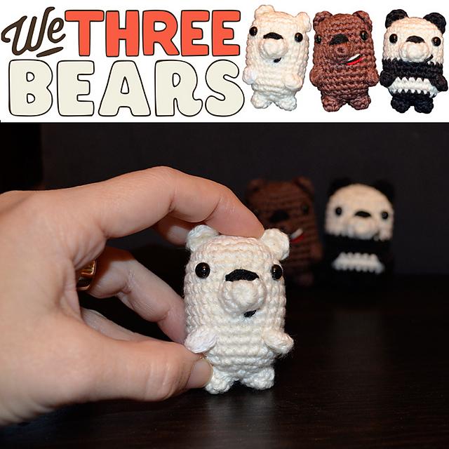 PDF PATTERN : We Bare Bears Pattern We Bare Bears Amigurumi | Etsy | 640x640