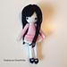 Petite Amigurumi School Girl Doll in Dress pattern
