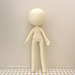 "9"" Slender Doll Base, Girl Body Figure pattern"