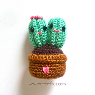 crochet cactus pattern Archives ⋆ Crochet Kingdom (8 free crochet ... | 320x320