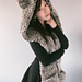 Hooded Timber Wolf Scarf pattern