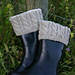 Cabled Boot Cuffs/Liners/Toppers with Fleece Sock pattern