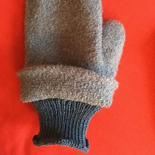 external cuff flipped up to show internal superwash wool cuff.