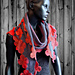 Knitted scarf Sevilla pattern