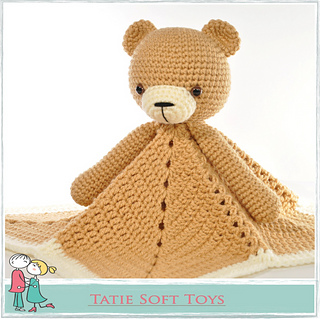 Sleep Tight Teddy Bear Blanket Pattern Crochet Pattern | 319x320