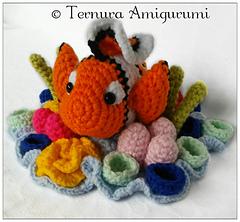 Peixinho Nemo de crochê - YouTube | 222x240