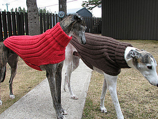 Side On Greyhound Sweater Pattern
