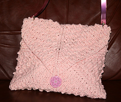Pink Peppercorn Stitch Bag front