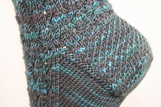 Whistle Bait heel and gusset