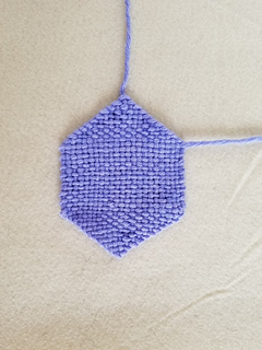 Two different folding otpions ... start with the position the hexagon comes off the loom ...