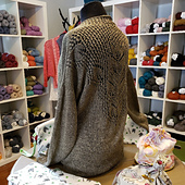 The Mallow on display at the Lucky Ewe Yarn store.