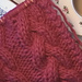 Plaited Cable Knit Scarf pattern