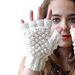 TRINITY STITCH FINGERLESS GLOVES - Optional fingertip warmers pattern