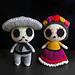 Pedro y Carmencita - Dia de los muertos pattern