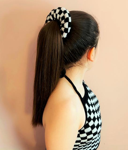 Checkerboard Scrunchie