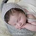 Moss Stitch Newborn Bonnet pattern