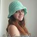 Crossed Double Crochet Sun Hat pattern