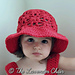 Weeping Willow Sun Hat for Kids pattern