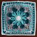 Crazy Daisy Mandala Square pattern