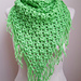 Clover Puff Triangle Scarf pattern