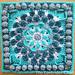 Cascading Mum Mandala Square pattern