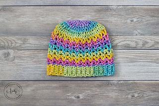Rainbow Love Hat