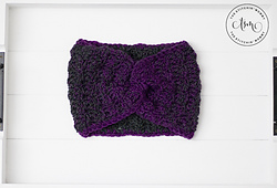 Mulberry Wine Earwarmer by The Stitchin' Mommy