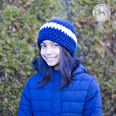 Easy Chunky Striped Hat by The Stitchin' Mommy