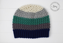Tidal Ridge Hat by The Stitchin' Mommy